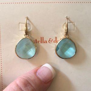 Light blue drop earrings